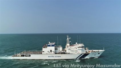 India's 1st Private-sector Offshore Patrol Vessel Ready For Military Service