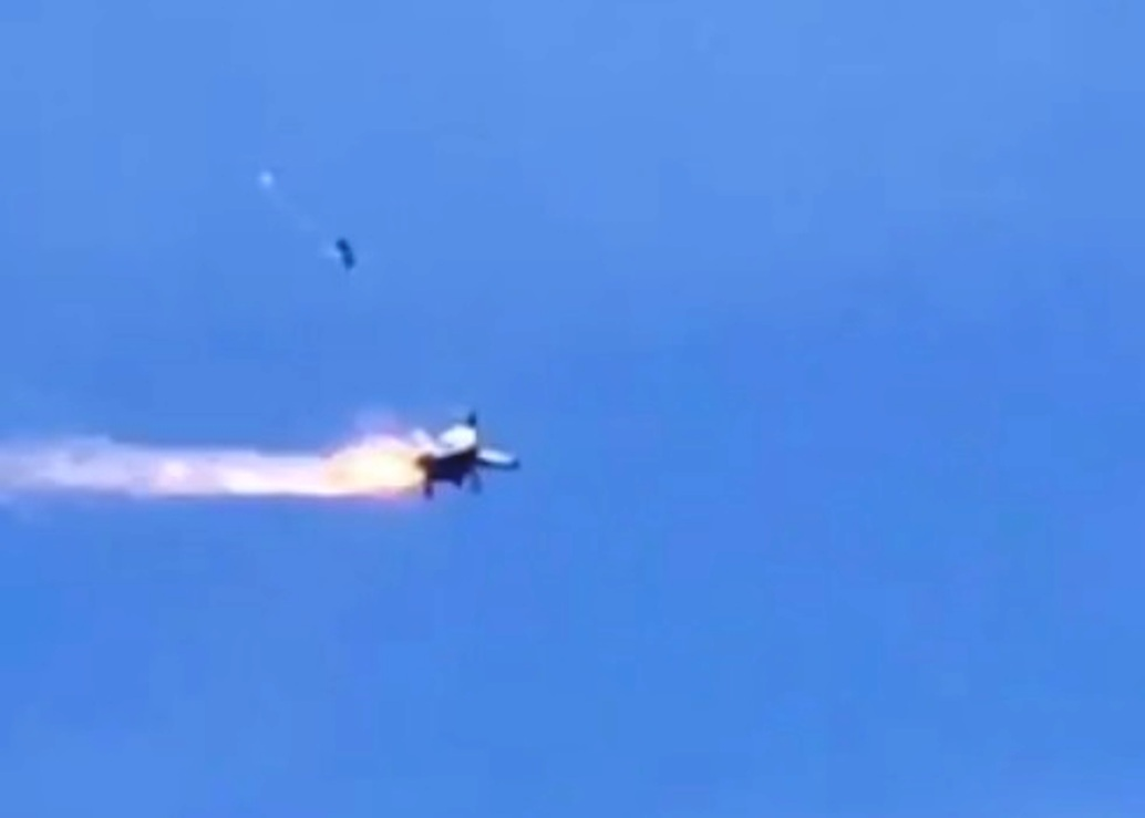 Video Captures Navy Pilots Punching Out Of Doomed MiG-29K Last Week